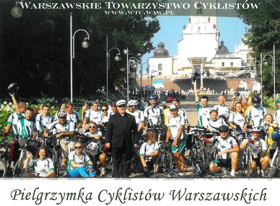 Sympatycy WTC na tle Sanktuarium Matki Bożej częstochowskiej Królowej Polski