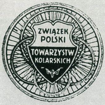 Pierwszy Emblemat Związku Polskiego Towarzystw Kolarskich.