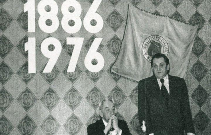 Obchody 90-lecia WTC. Na zdjęciu Prezes Henryk Narojek.
